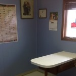 This is the first exam room where Doctor usually does the general check-ups and vaccinations.